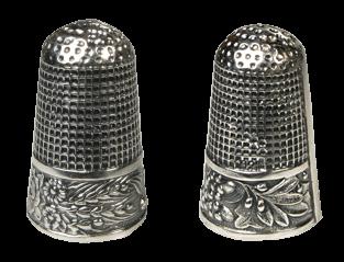 handbemalt Albert Stahl /& Co. Fingerhut Porzellan